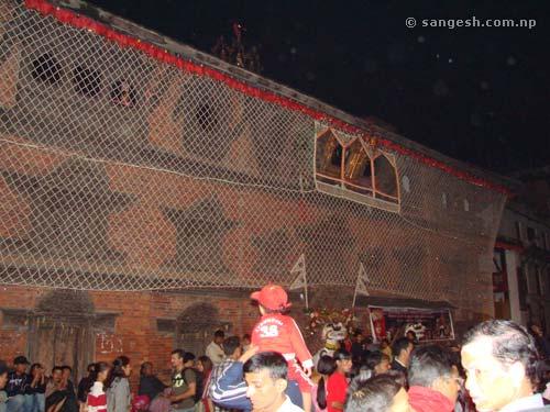 Kumari Ghar during Indra Jatra festival