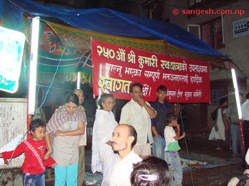 People participating in Indra jatra