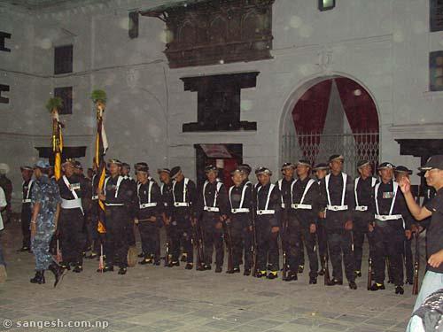 Gurju ko Paltan with their traditional Black dress