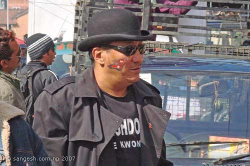 Yogeshwore Amatya at Bhintuna rally