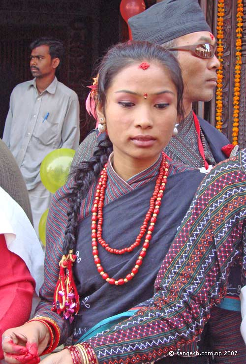 Girl with a Typical Newari Dress