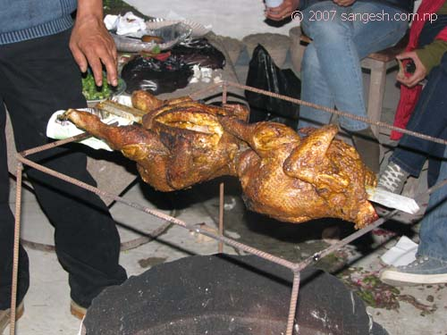 Chicken BBQ at our party