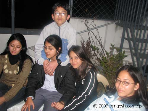 Shrestha group from Tripureshwor during the party