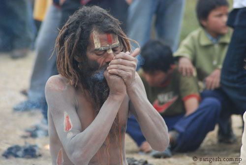 Babji smoking pot - Ganja