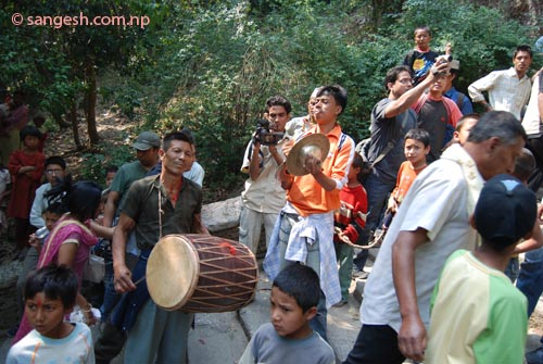 Typical Newari musical instrument
