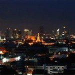 Bangkok city at night from my room